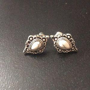 Marble, vintage inspired earrings